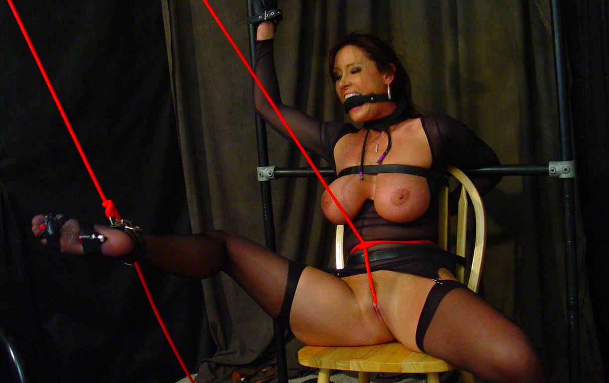 Crotch Rope Bondage With Business Women